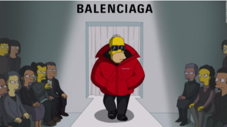Balenciaga premiers its spring collection in an episode of The Simpsons