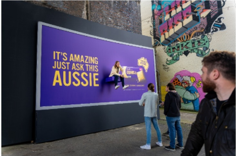 Cadbury puts actual Aussies on billboards across the country