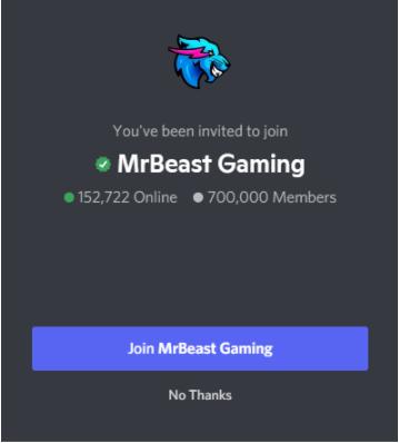 MrBeast Gaming Discord Server