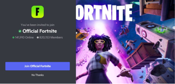 Official Fortnite Discord Server - gaming discord servers