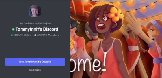 TommyInnit's Discord - gaming discord servers